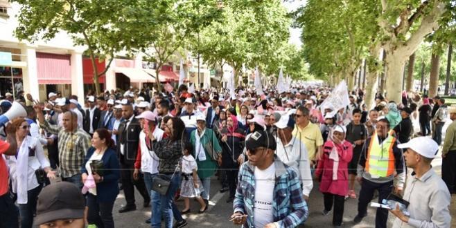 Diapo/ Fès-1er mai : Forte mobilisation à l'UGTM