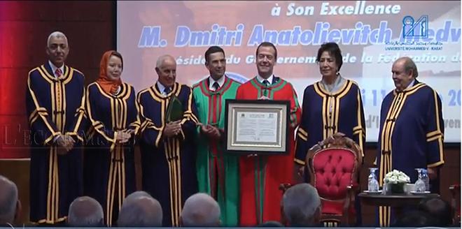 L'université Mohammed V attribue le titre de «Docteur Honoris Causa» à Medvedev