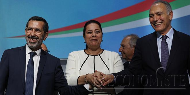 Passation de pouvoirs entre Meriem Bensalah et Salaheddine Mezouar