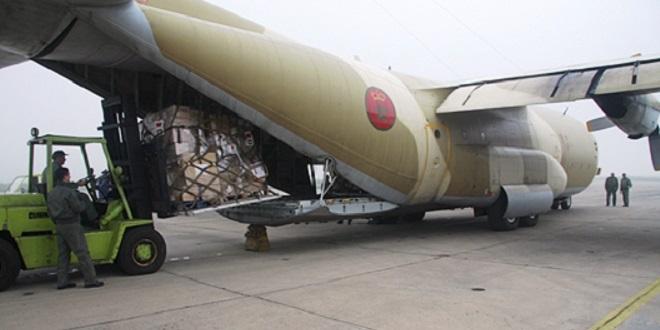 Aide médicale: Quatre nouveaux avions marocains arrivent à Tunis