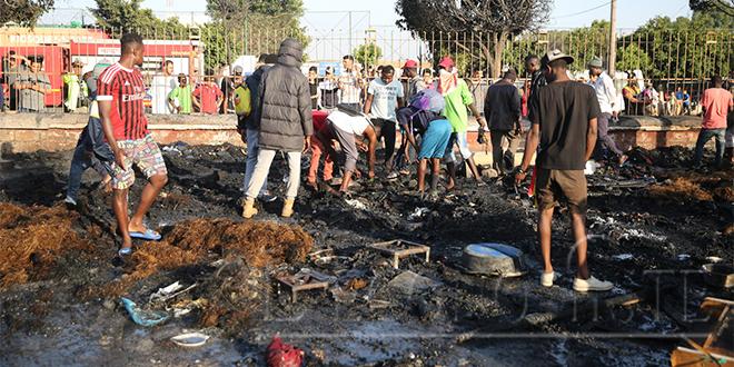 Gare Ouled Ziane : Un incendie ravage le camp des migrants