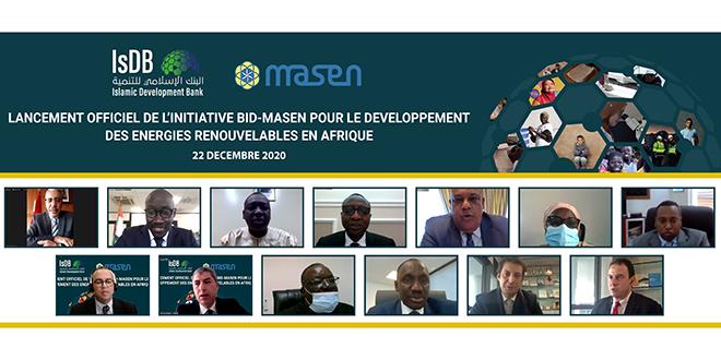 Projets d'EnR: Lancement effectif de l'initiative MASEN-BID