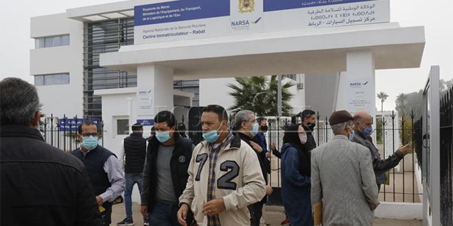 Centres d'immatriculation: Reprise à Rabat, Témara et Ingezgane