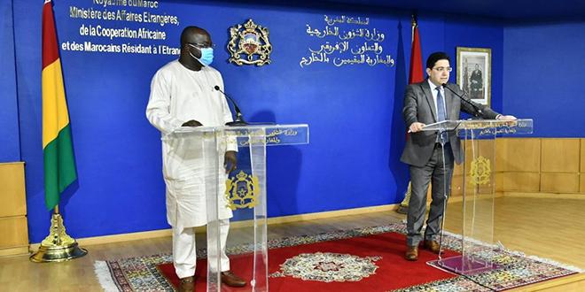 Bourita reçoit son homologue guinéen