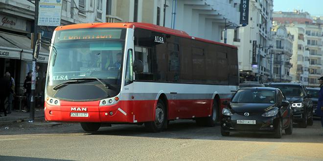 Casablanca: Le parc provisoire de bus en circulation