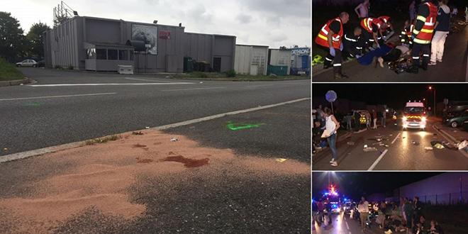 France: une voiture fonce sur des piétons