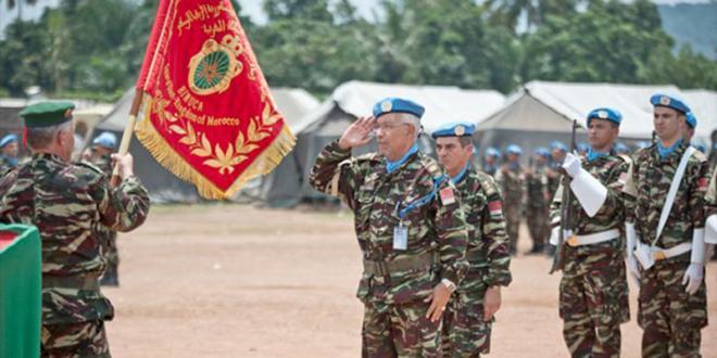 Obsèques des deux Casques bleus marocains tués