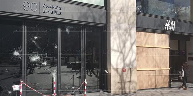 L'avenue des Champs-Elysées panse ses plaies