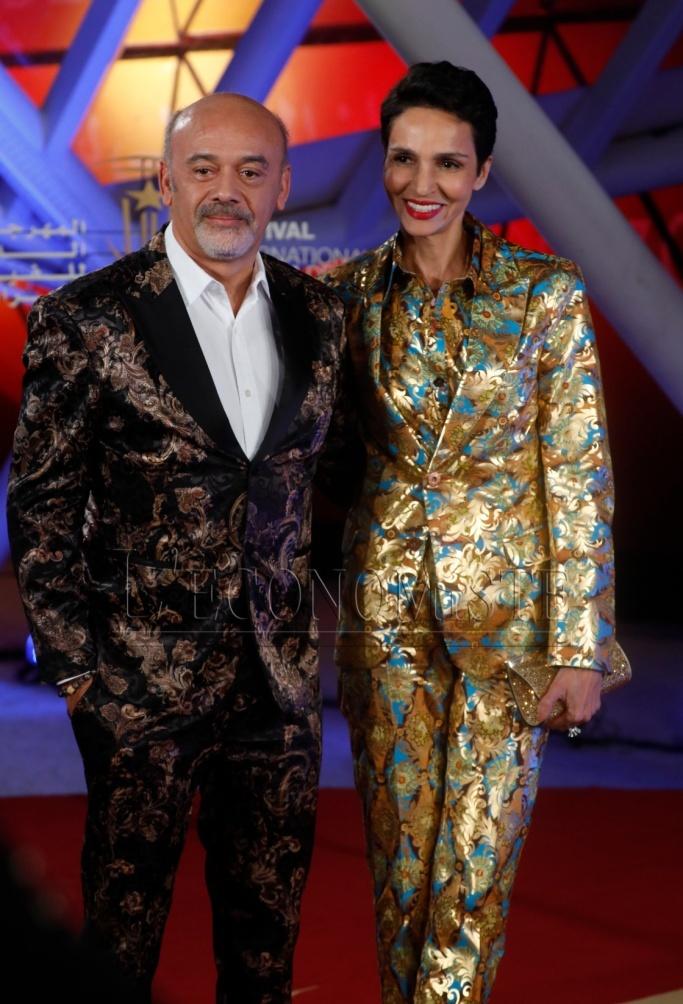 Christian Louboutin et Farida Kelfa