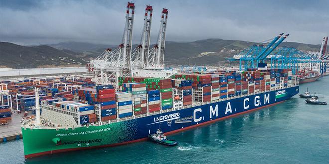 Tanger Med accueille le plus grand porte-conteneurs au monde propulsé au GNL