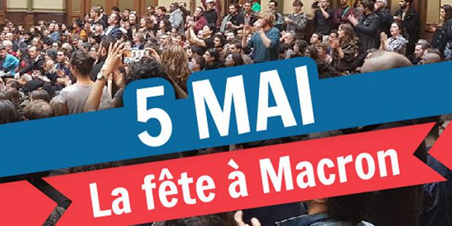 """Les manifestants vont """"Faire la fête à Macron"""""""