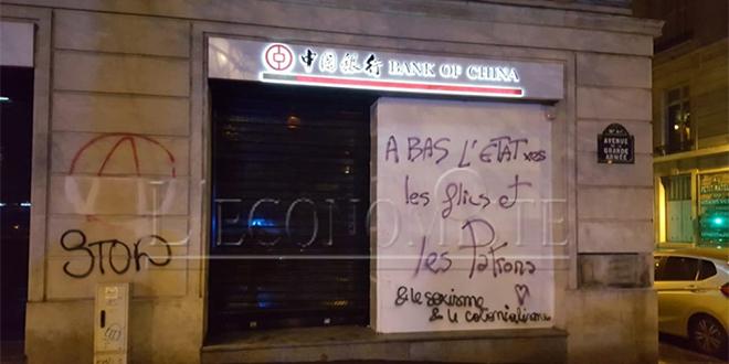 Gilets jaunes : Commerces saccagés et murs tagués à Paris