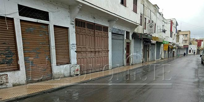 Grève des commerçants à Salé