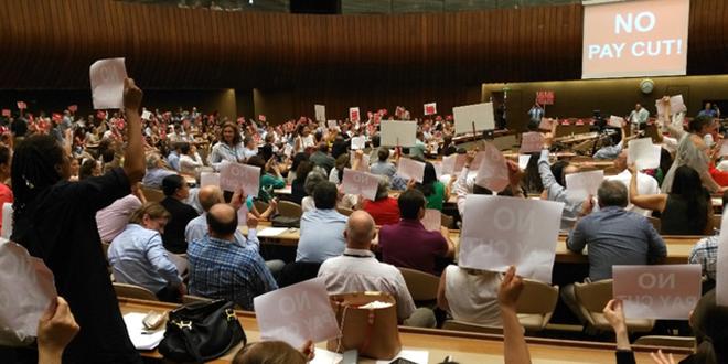 ONU: les fonctionnaires en grève à Genève