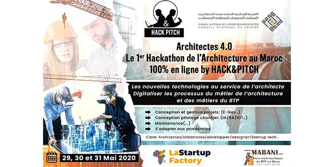 Un premier hackathon 100% en ligne pour les architectes