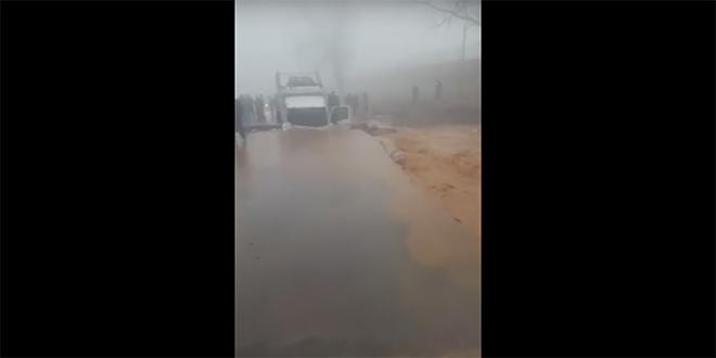 VIDEO-Pluies : D'importants dégâts routiers à El Hajeb