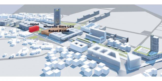 Gare LGV Rabat Agdal : AMI pour un hôtel 4 étoiles