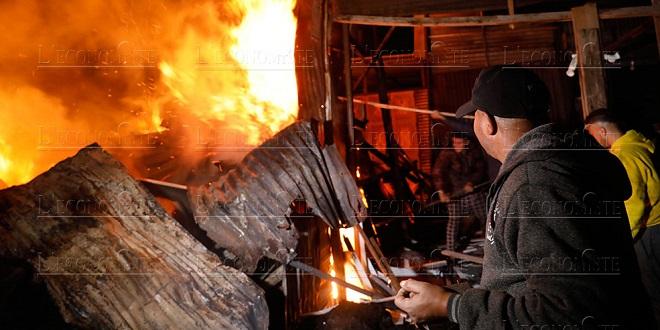 Chtouka Ait Baha: Un mort dans l'incendie d'un marché