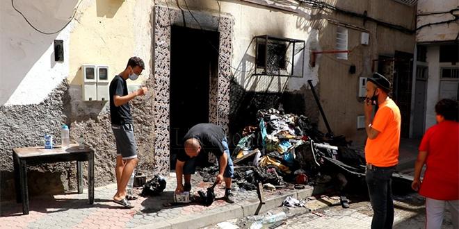 """DIAPO/ Casablanca: 8 blessés """"graves"""" dans un incendie"""
