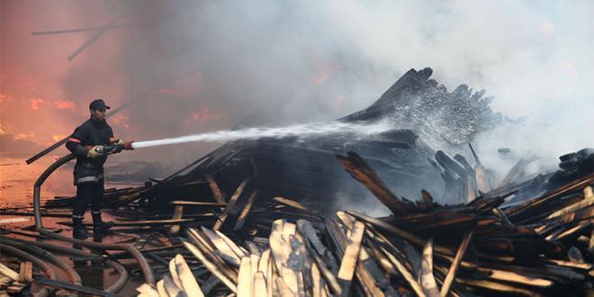 Incendie dans un marché à Guelmim