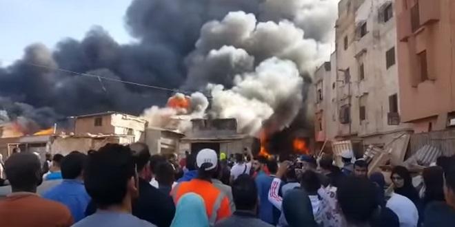 Casablanca : Un violent incendie ravage marché populaire