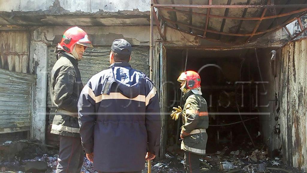 L'incendie a provoqué des dégâts matériels
