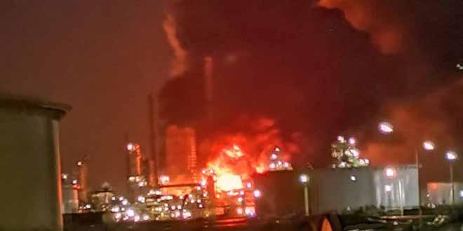Havre: important incendie dans une raffinerie de Total