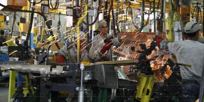 Industries manufacturières: Hausse de l'indice de la production