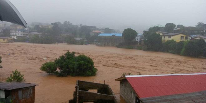 Inondations très meurtrière en Sierra Leone