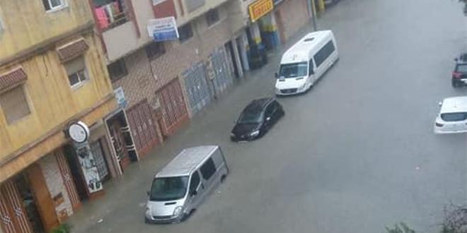 Tanger: Les fortes pluies paralysent une partie de la ville