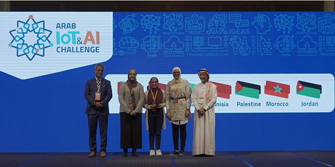 Une équipe de trois étudiantes de l'Institut national des postes et télécommunications (INPT) s'est adjugée la deuxième place de l'Arab IoT & AI Challenge lors de la Gitex Technology Week à Dubaï.