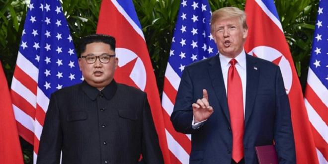Trump à pied en Corée du Nord