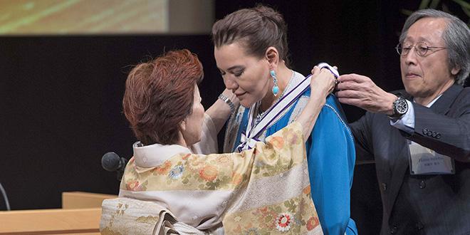Lalla Hasnaa reçoit à Tokyo le prix international GOI Peace 2018
