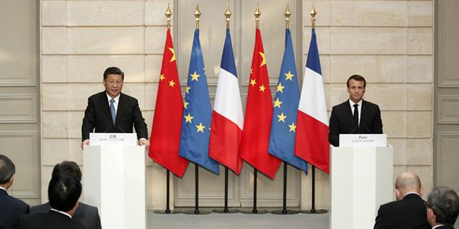 """Macron demande à la Chine de """"respecter l'unité de l'UE"""""""
