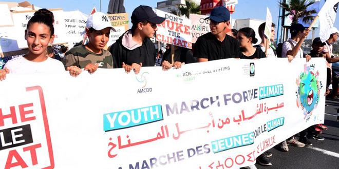 Casablanca : Des jeunes marchent pour le climat