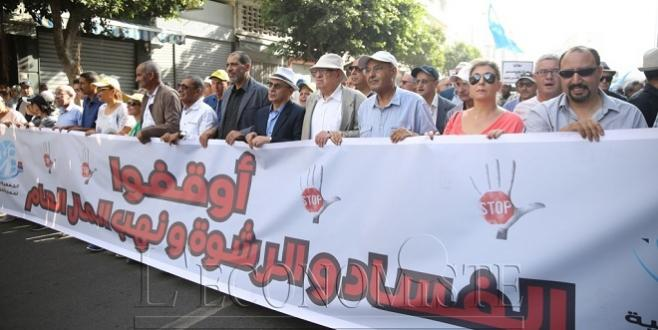 DIAPO/ Marche contre la corruption à Casablanca