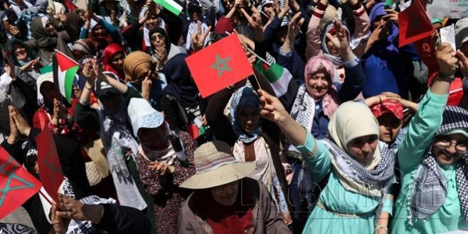 Rabat : Grande marche de soutien à la Palestine