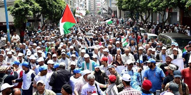 Casablanca : Grande marche de solidarité avec la Palestine