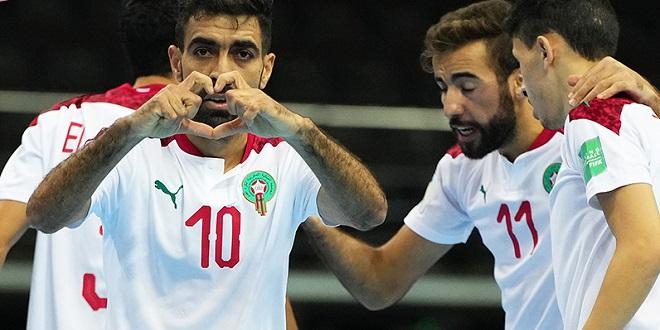 Coupe du monde de futsal: Le Maroc qualifié en quarts de finale