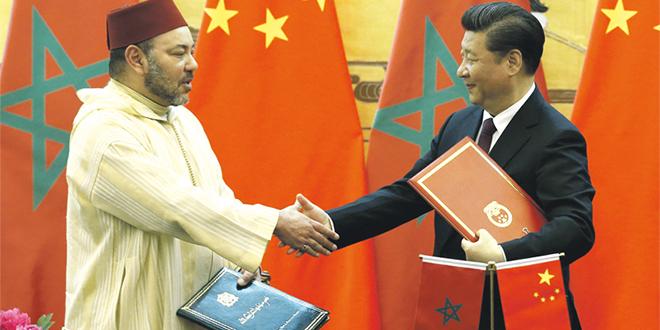 Le Roi adresse un message au président chinois