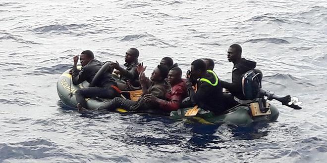 Laâyoune: Une cinquantaine de migrants secourus