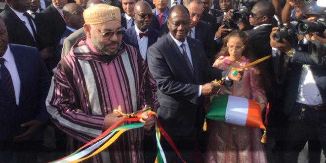 Le Roi inaugure deux projets en Côte d'Ivoire