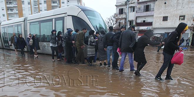 Tramway-Casablanca : pluie et problèmes techniques
