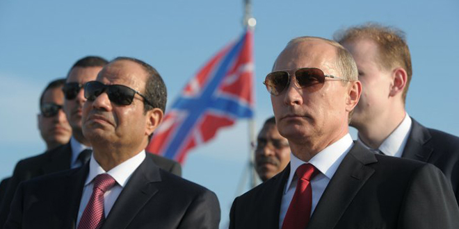 Vladimir Poutine en Egypte