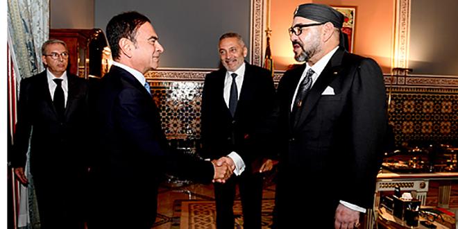 Le Roi reçoit Elalamy et Ghosn