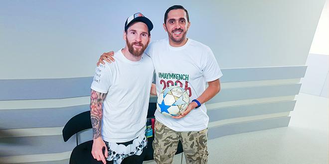 DIAPO/ Maroc 2026 : Saad Abid avec Messi, Iniesta et Eto'o