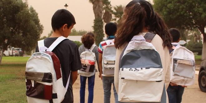 SG Maroc recycle ses bâches publicitaires pour les écoliers