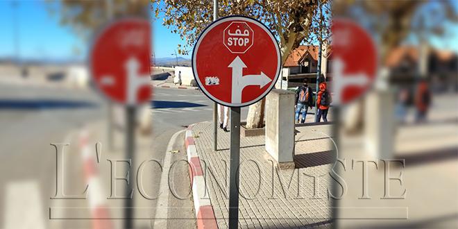 Azrou : Un panneau «insolite» pour verbaliser les automobilistes