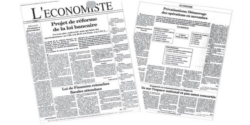 Il y a 29 ans le n°1 de L'Economiste