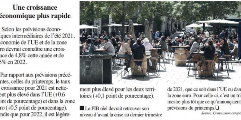 Croissance: Bruxelles détaille les facteurs de la reprise